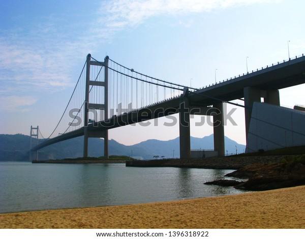 Tsing Ma Bridge Ma Wan Tung Stock Photo (Edit Now) 1396318922