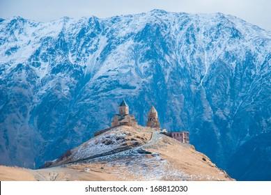 Tsminda Sameba Monastery, Kazbegi, Georgia
