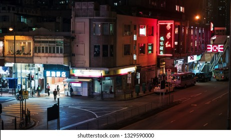 Tsuen Wan, Hong Kong - March 01, 2019: Tsuen Wan District: Traffic and city life in this Asian international business. The city is one of the most populated areas in the world.