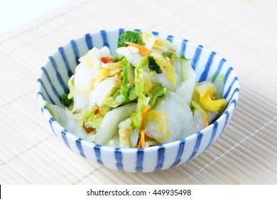 tsukemono/japanese pickled vegetables
