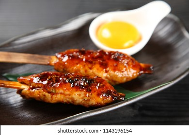 TSUKUNE Japanese chicken meatballs with raw egg