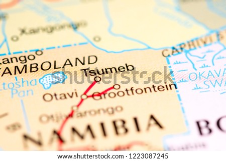 Tsumeb Namibia Africa On Map Stock Photo (Edit Now) 1223087245 ...
