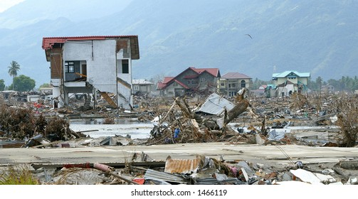 Tsunami devastated area, Aceh, Indonesia 2005