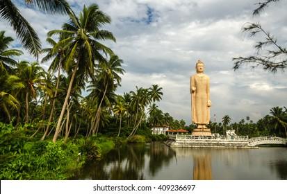 Tsunami Memorial - Peraliya Buddha Statue in Hikkaduwa, Sri Lanka