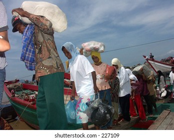 Tsunami refugees at Aceh Indonesia.