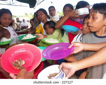 Tsunami's children are struggling for their food at Aceh Indonesia.