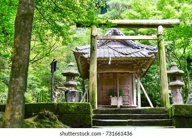 Tsurugane Shrine Near Senganen Garden in Kagoshima Prefecture