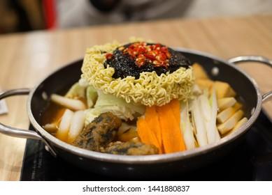 tteokbokki korea spicy food on plate
