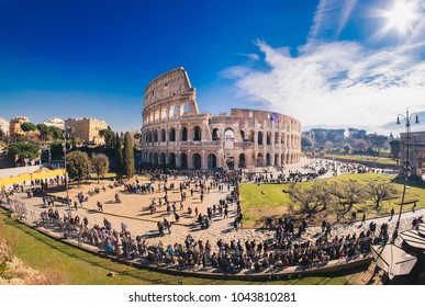 TThe Roman Colosseum in Rome, Italy, HDR panorama