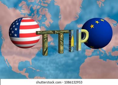 TTIP 3D, Transatlantic Trade and Investment Partnership, Rendering