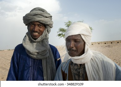 TTumbuctu,Mali- Sept.2,2011: Tuaregs in the desert of Mali