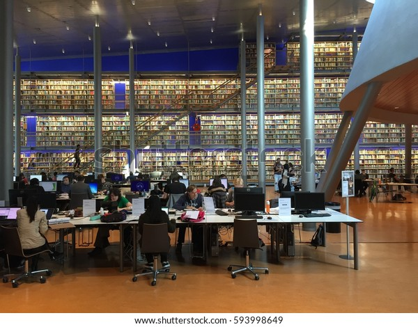 Tu Delft Library May 2016 Student Stock Photo (Edit Now ...