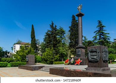 Tuapse, Russia - May 16, 2019: Tuapse is famous for popular attractions like City of Military Glory Stela