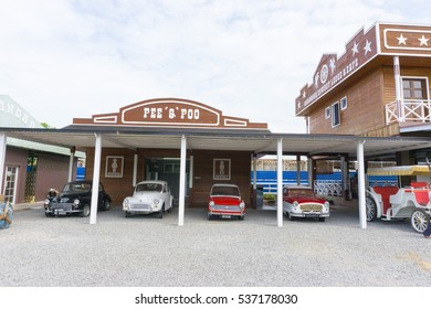 TUARAN,SABAH,MALAYSIA-December 15,2016: Sabandar Leisure Rides, the new places of interest for tourist at Tuaran town.The design of building like a cowboy town.