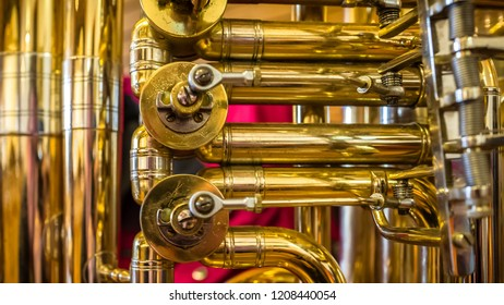 Tuba in a detail view