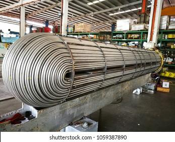 Tube bundle is under fabrication at mechanical workshop.
