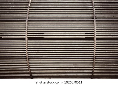 Tube of heat exchanger inside equipment in oil and gas refinery industrial