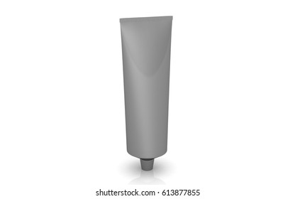 Tube isolated on white background, 3D rendering