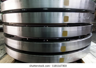 Tube Sheet of the heat exchanger, the water heater in the boiler as background at fabrication industrial