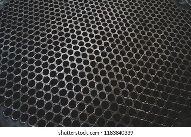 Tube Sheet of the heat exchanger, the water heater in the boiler