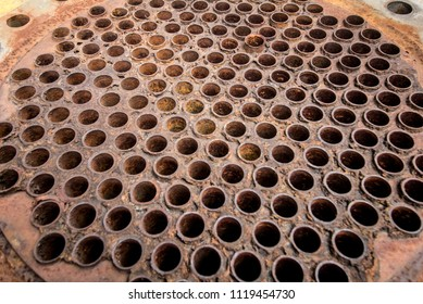 Tube Sheets of heat exchangers, water heaters, boilers used is rust.