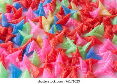 tube star handmade colorful