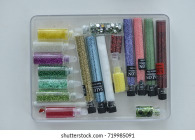 Tubes with professional nail glitter