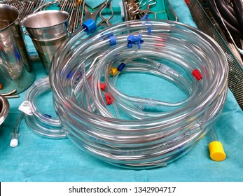 Tubing circuits for cardiopulmonary bypass (CPB) in open heart surgery with heart lung machine