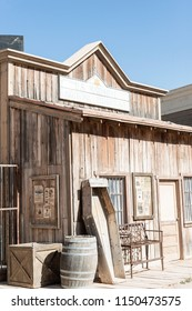 Tucosn, AZ, USA - June 03 2018.06: Old Tucson is a movie studio and theme park. It is one of Arizona's top Wild West attractions, featuring live action stunt shows, musicals and live entertainment.