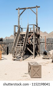 Tucosn, AZ, USA - June 03 2018.06: gallows in the Old Tucson. Old Tucson is a movie studio and theme park just west of Tucson.