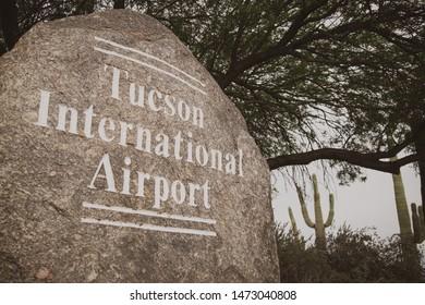 Tucson, Arizona: August 4 2019: Tucson International Airport sign