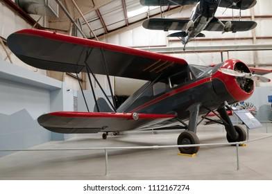 Tucson, Arizona, USA 4-23-2018 The WACO ZKS-6 bi-plane on display at the Pima Air and Space Museum in Tuscon, Arizona