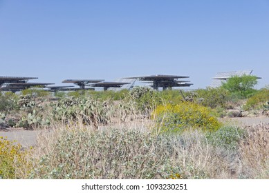 Tucson, Arizona, USA - April 17, 2018: Solar Zone at the UA tech park