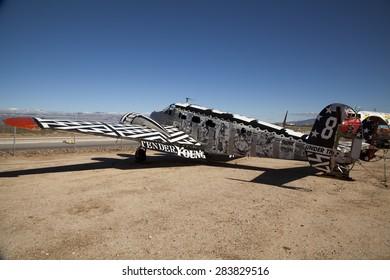 TUCSON, ARIZONA, USA - December 14, 2014: - Aircraft at Pima Air and Space Museum  in Arizona, USA