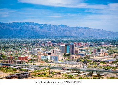 Tucson, Arizona, USA downtown city skyline.