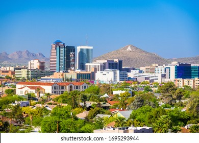 Tucson, Arizona, USA downtown city skyline in the afternoon.