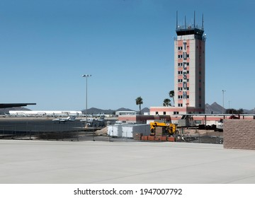 Tucson, Arizona, USA - March 27, 2021: Tower at the International Airport