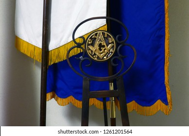 Tucson, Arizona/USA - October 12, 2018: freemasonry symbols in the Tucson lodge