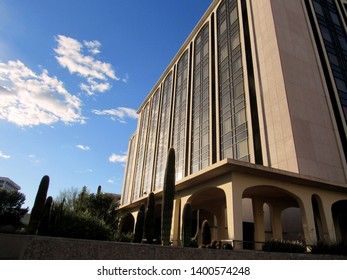 Tucson, Ariz./USA-Dec. 29, 2018: The Pima County Superior Court building on W. Congress Street, downtown.