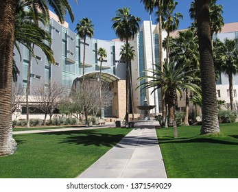 Tucson, Ariz./USA-March 3, 2018: The United States Courthouse on W. Congress Street has a heavy immigration caseload.