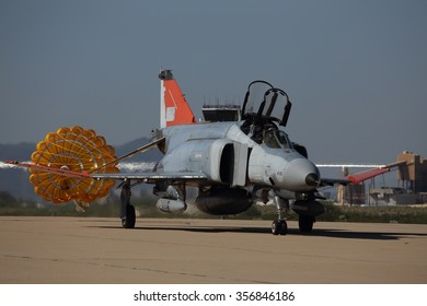 Tucson, Az, 10/13/2015. A QF-4E Phantom II from the 82nd ATRS out of Holloman AFB, NM taxis into the ramp at Davis-Monthan AFB for PhanCon 2015