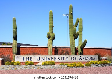 TUCSON, AZ -23 FEB 2018- View of the campus of the University of Arizona,  a public research university located in Tucson, Arizona.