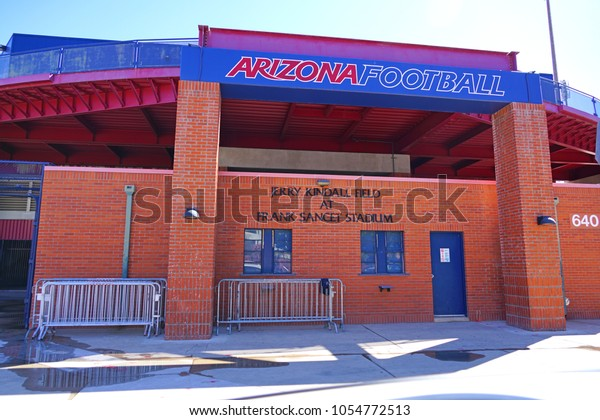 TUCSON, AZ -23 FEB 2018- View of the campus of the University of Arizona near the Jerry Kindall Field at Frank Sancet Stadium, a public research university located in Tucson, Arizona.