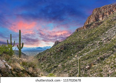 Tucson AZ Mountain Sunset