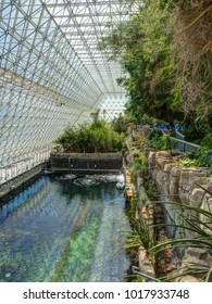 Tucson, AZ/USA - March 10 2014: Biosphere 2 Lake