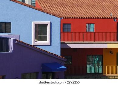 Tucson colorful buildings