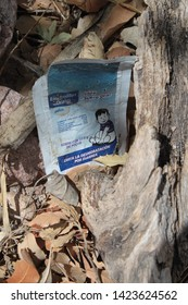 Tucson Sector, Ariz. / US - May 24, 2014: A powdered electrolyte wrapper, to battle heat and dehydration, left behind by people trying to cross the border in wild, rural parts of southern Arizona.