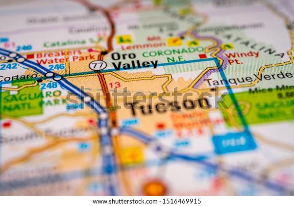 Tucson Usa Map Travel Background Stock Photo (Edit Now ... on arizona tucson, zip code map tucson, weather tucson, street map tucson,