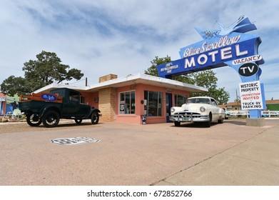 Tucumcari, New Mexico, USA, April 25, 2017: Old Motel on Route 66