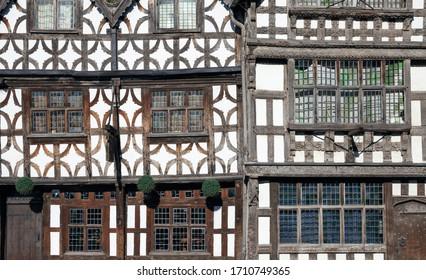 Tudor building facade at Stratford upon Avon, Warwickshire, England